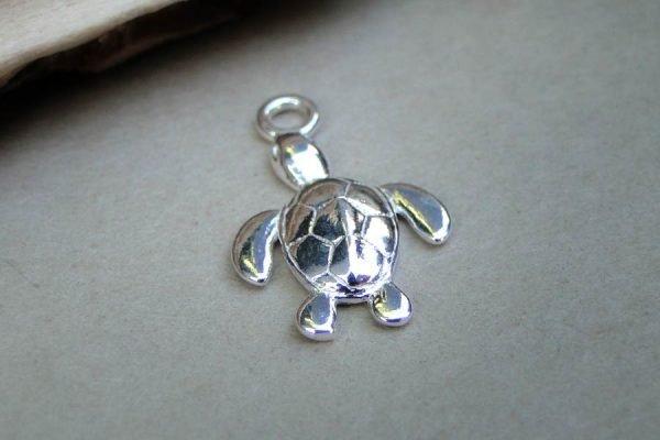 Turtle-Tibetan-Silver-Charm