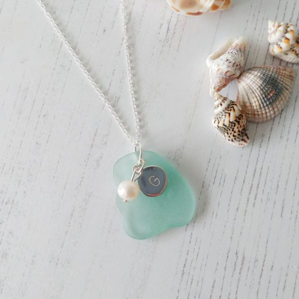 personalised sea glass necklace