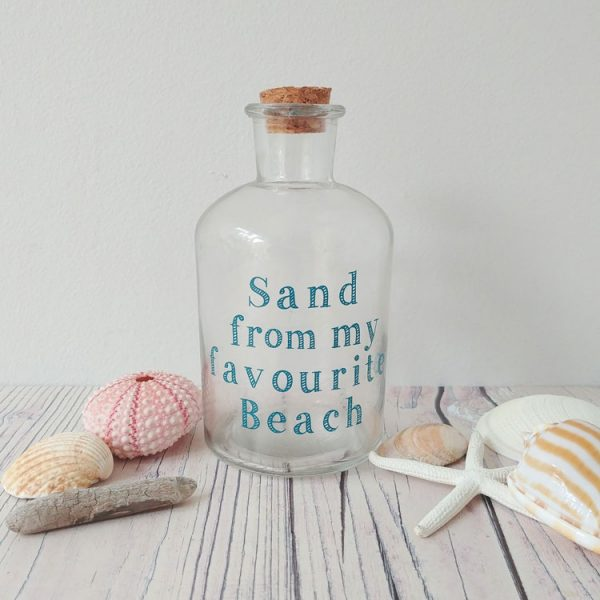 sand from my favourite beach bottle