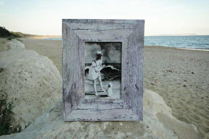seaside memories driftwood style photo frame