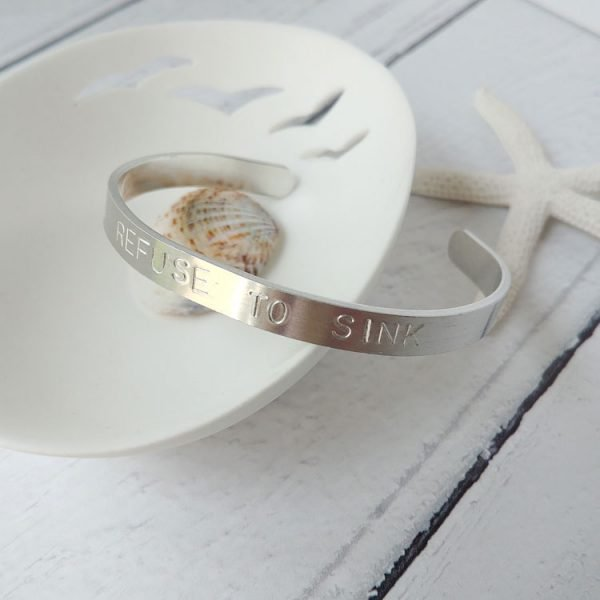 refuse to sink sterling bangle