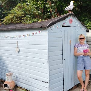 beach hut in our garden