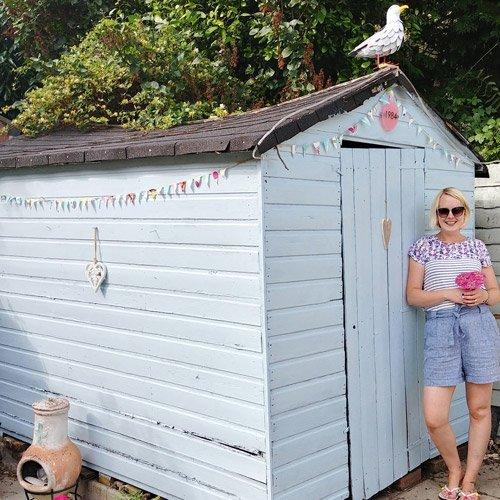 beach hut in our garden