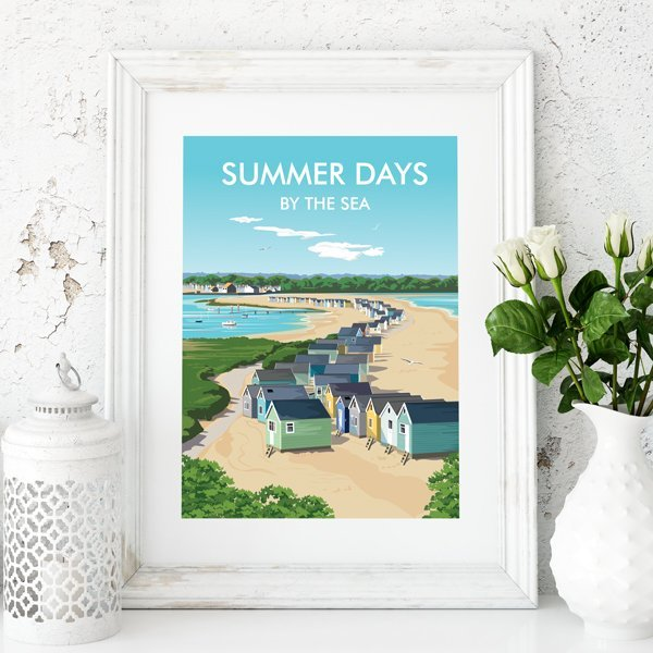 Summer Days framed beach picture