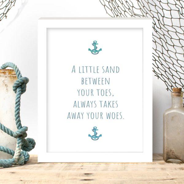 a little sand print