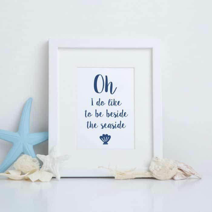 oh i do like to be beside the seaside print