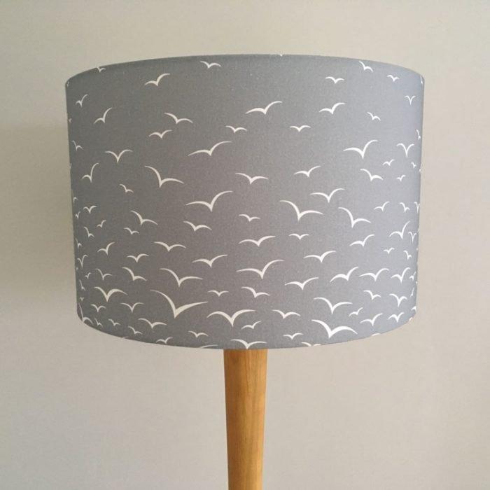 Rock & Saltwater grey graduated seagulls print lampshade