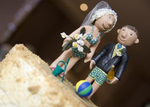 Beach couple cake topper