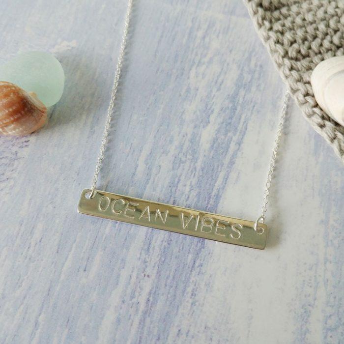 seaside bar necklace