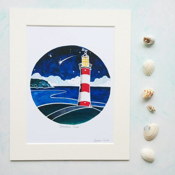 Smeatons Tower Lighthouse Print