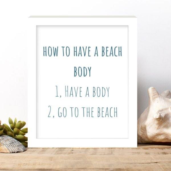 beach body print