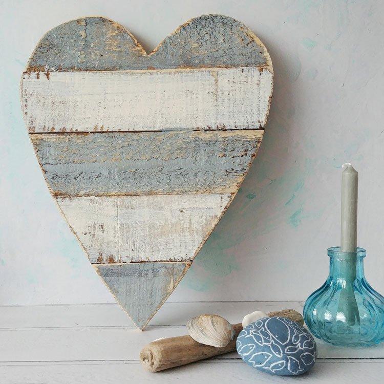 Grey Wooden Heart Wall Art