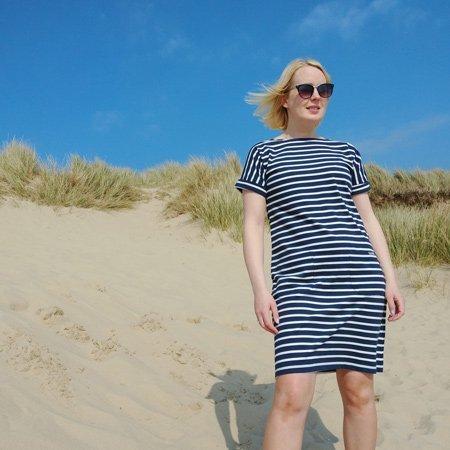 Etta Striped Jersey Dress