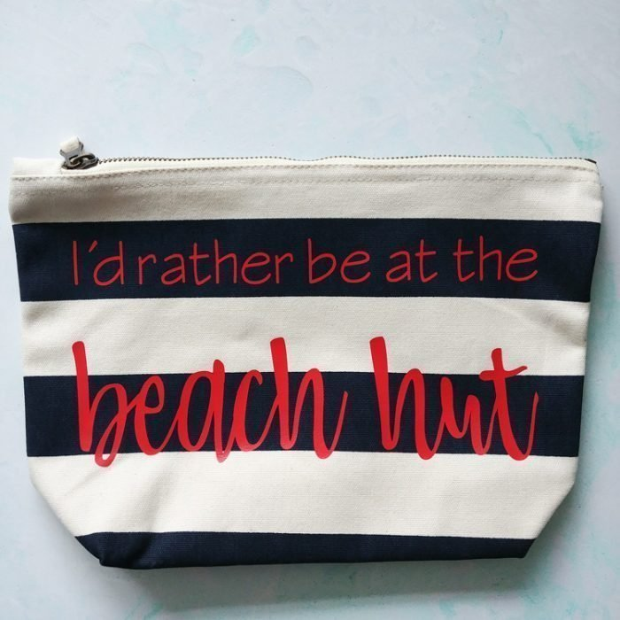 Id Rather Be At The Beach quote personalised bag