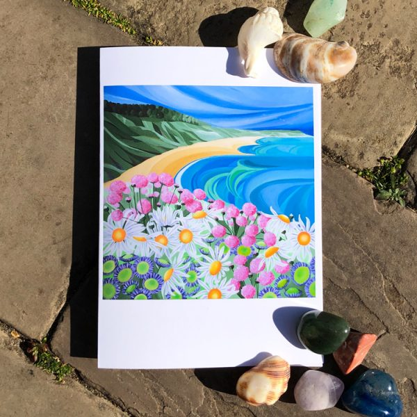 Coast Greeting Card by artist Faye Baines. From an original painting and printed on high quality white card.