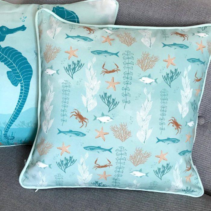 starfish and coral cotton superior quality decorative cushion