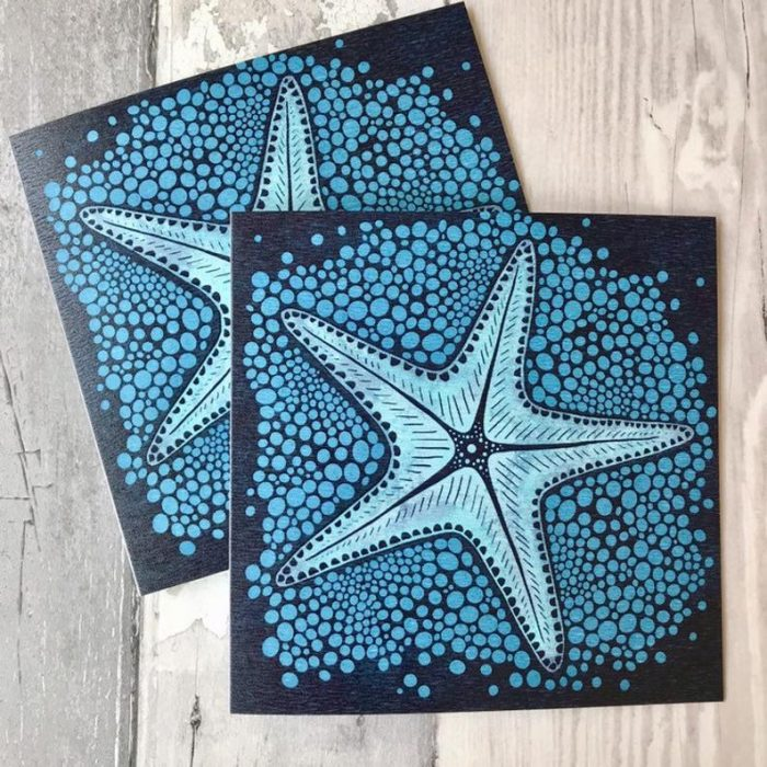 starfish in the sand card