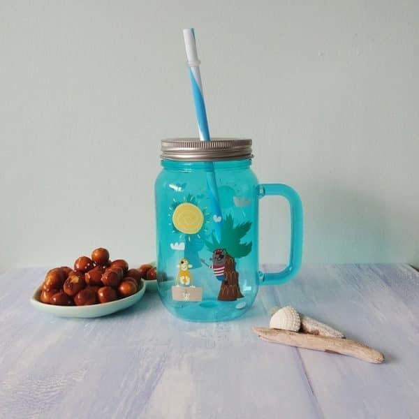 pirate pete drinking jar