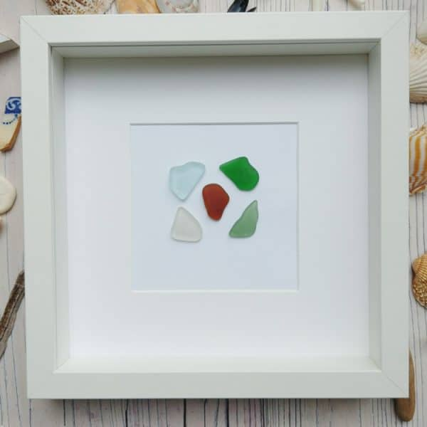 send us your sea glass framed picture