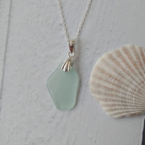 summer seaglass pendant necklace