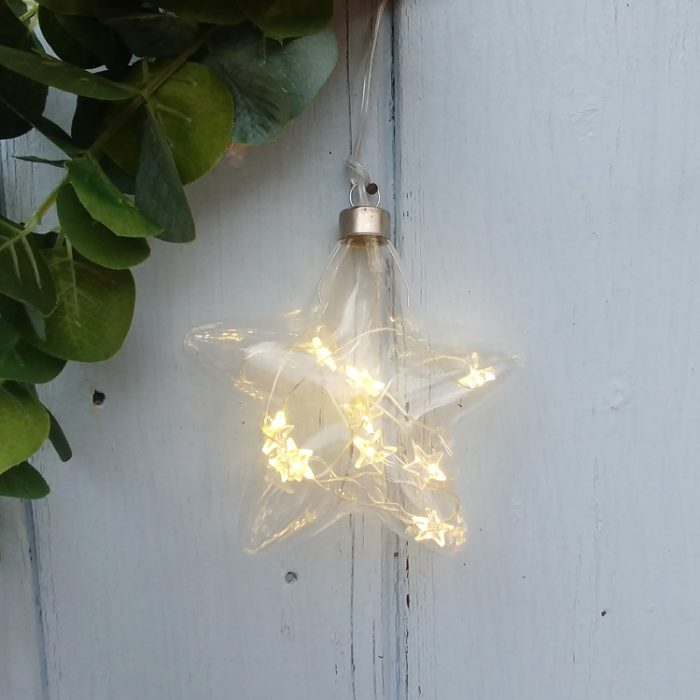 small light up glass star
