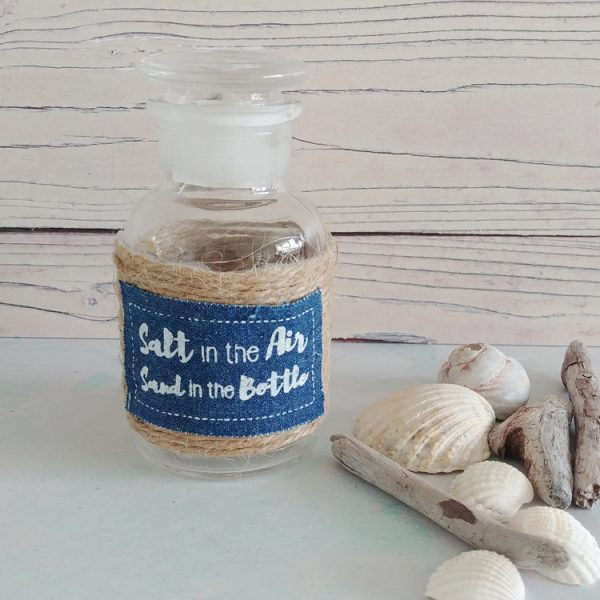 sand in the bottle glass bottle