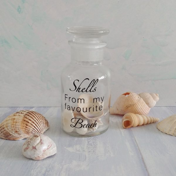 shells from my favourite beach bottle