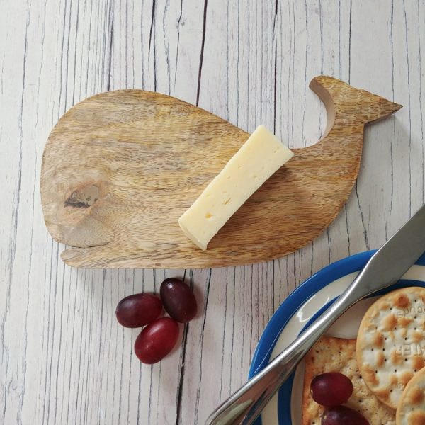 whale wooden chopping board