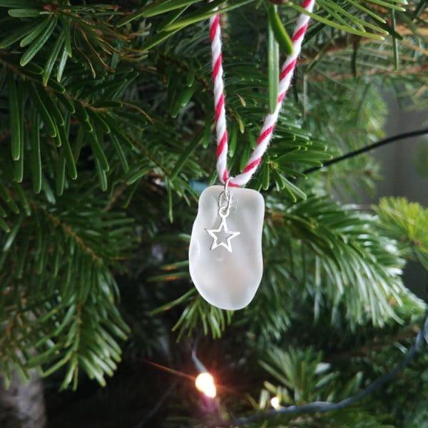 seaglass hanging decoration