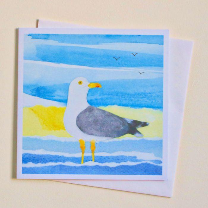 paddling seagull card