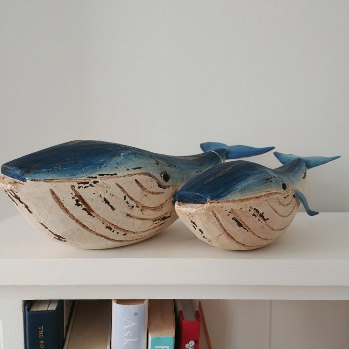 mother and baby blue whales