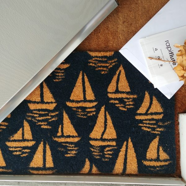 sail boats doormat