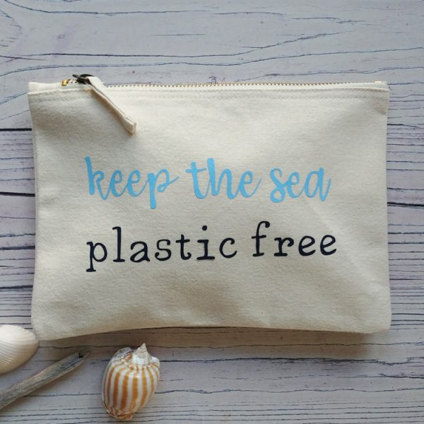 keep the sea plastic free cream pouch