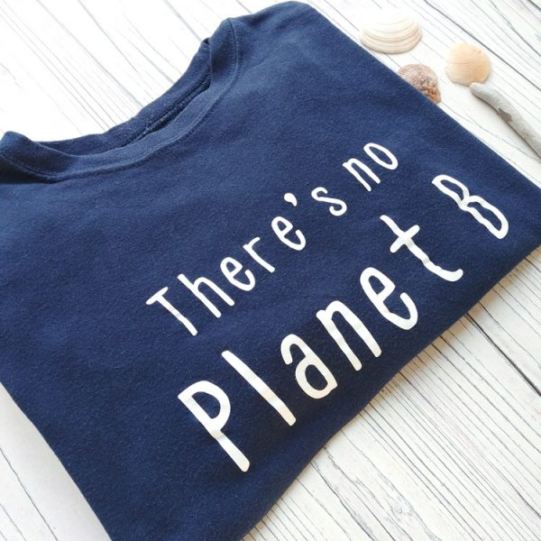 there's no planet b kids navy tee