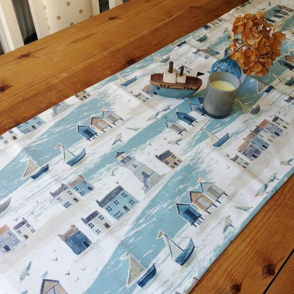 coastal scene table runner
