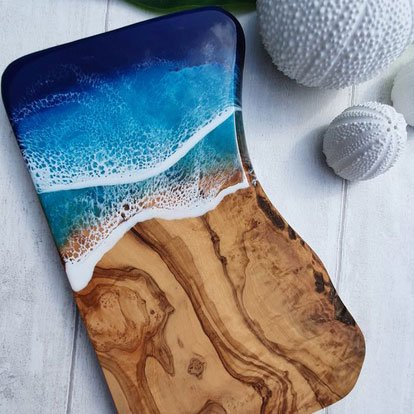 ocean wave large resin board