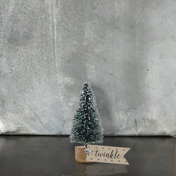 mini snowy christmas tree