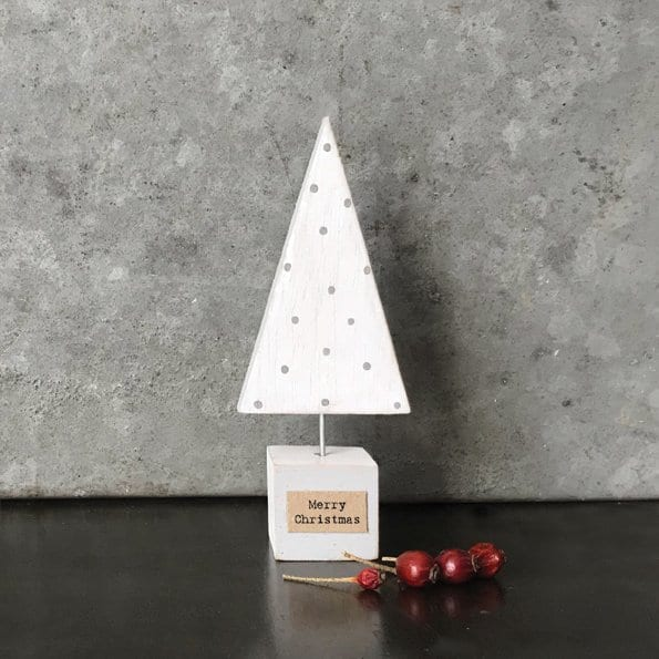 white wooden christmas tree