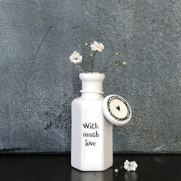 with much love porcelain bottle