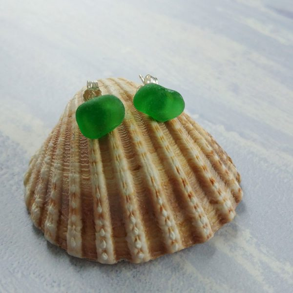 sea green seaglass earrings