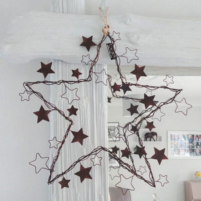 star on star rust wreath