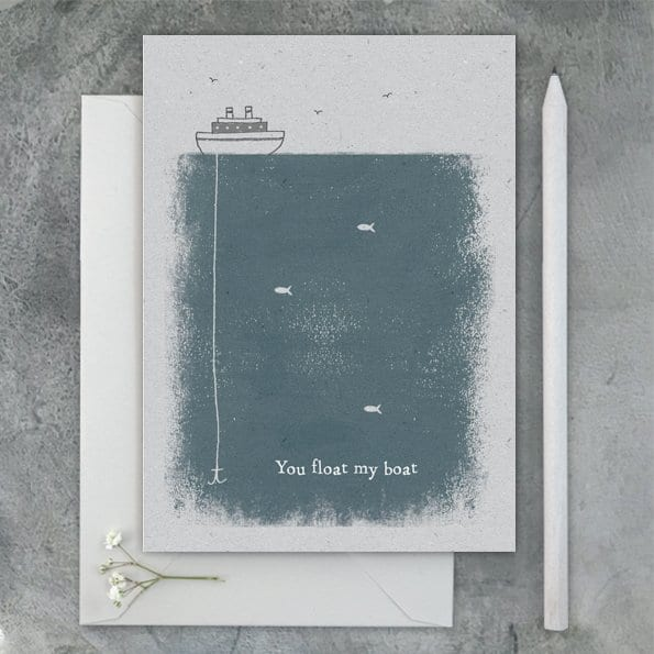 you float my boat kraft card greeting card