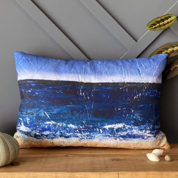 carbis bay handmade cushion