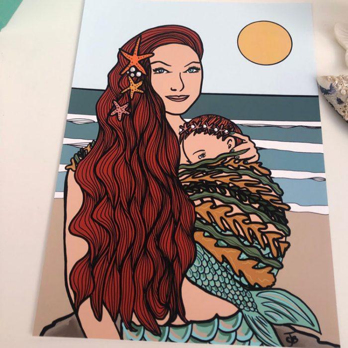 Mermaid Mama & baby