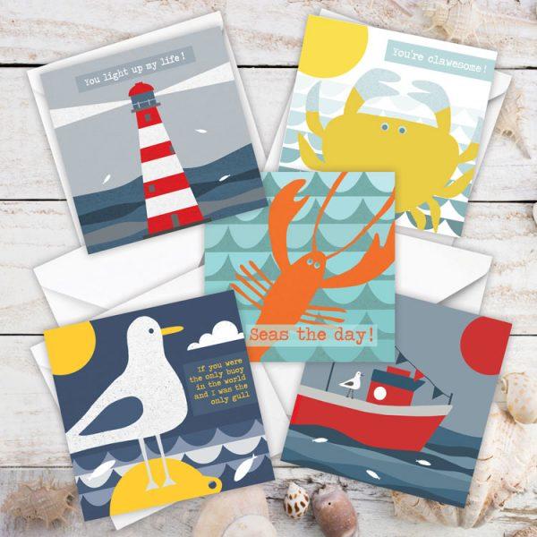coastal card greeting card pack