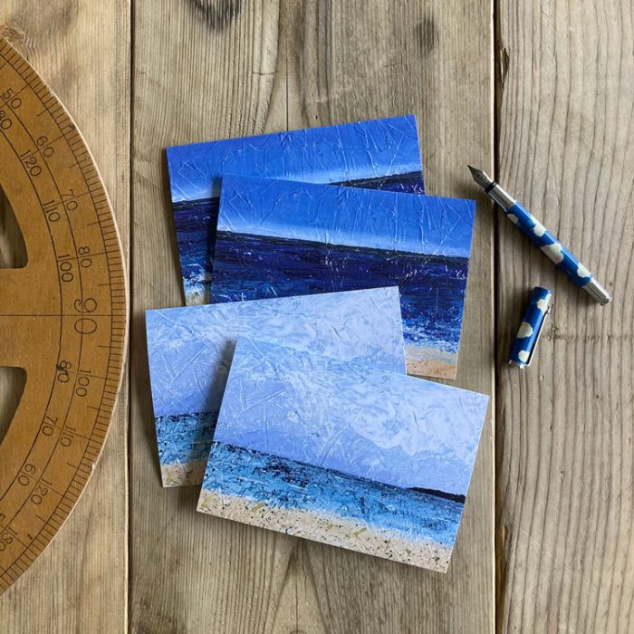 seascape pack of 4 greeting cards