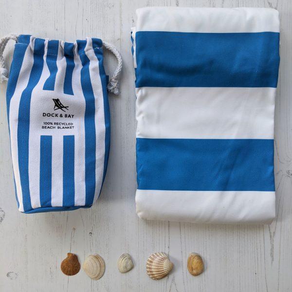 bondi blue round beach blanket
