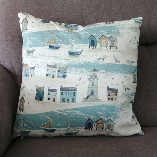 coastal scene cushion