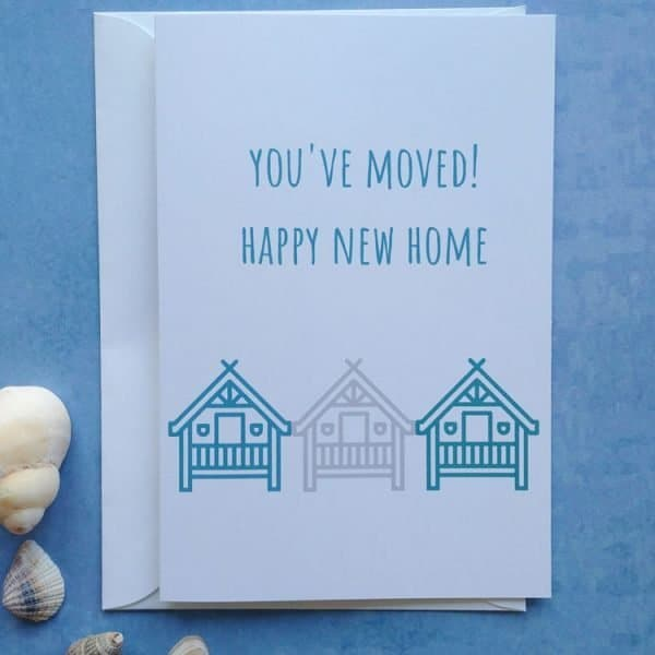 you've moved new home card
