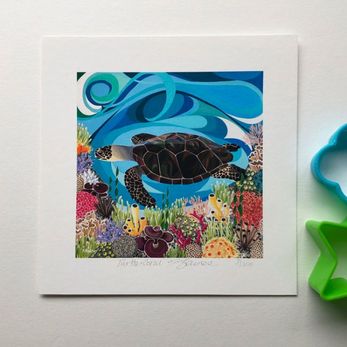 turtle and coral print